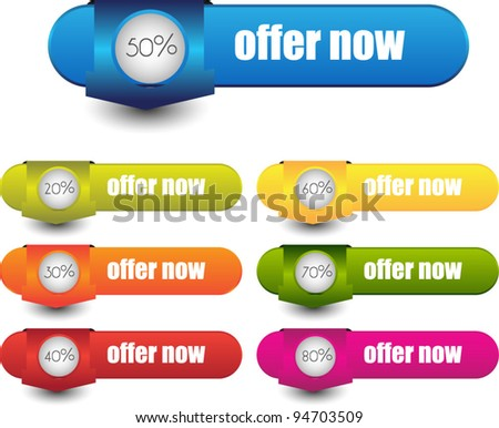 colorful web element for sale and advertisement - stock vector
