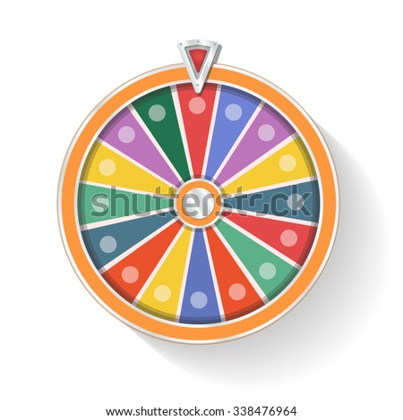 Colorful wheel of fortune vector - stock vector