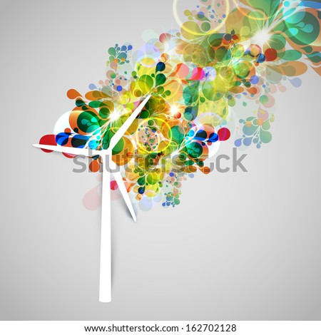 Colorful wind generator vector illsutration - stock vector