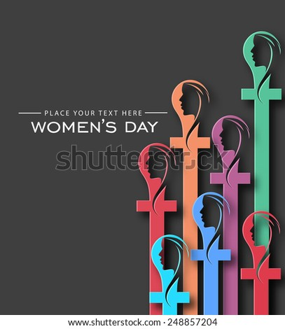 Colorful Woman's day Background - Vector Design Concept  - stock vector