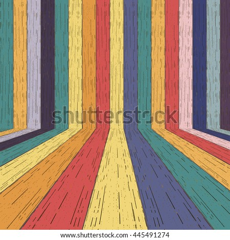 Colorful wood plank background. Vector illustration  - stock vector