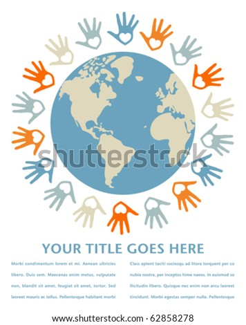 Colorful world peace and unity design. - stock vector