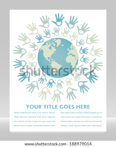 Colorful world peace and unity vector.  - stock vector