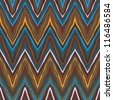 colorful zig-zag pattern, seamless vector background - stock vector