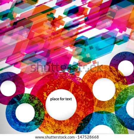 Colorfull abstract design background. vector illustration  - stock vector