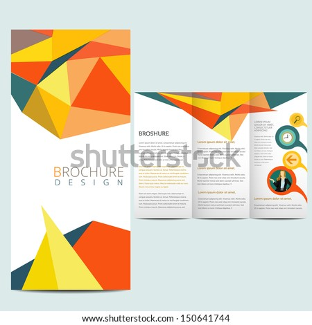 Colorfull business brochure, flyer template - stock vector