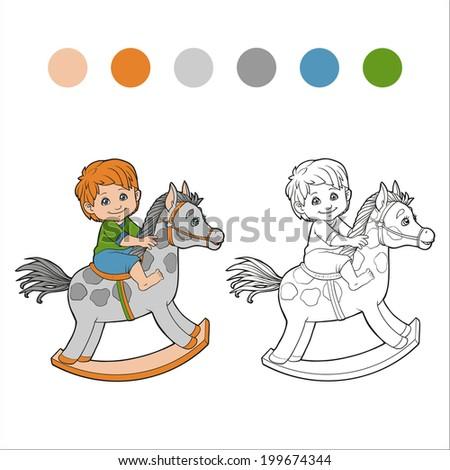 Coloring Book (boy) - stock vector