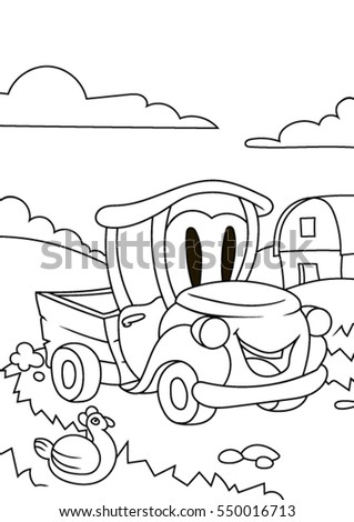 Pictures Of Empty Cartoon Cars Driving To Color
