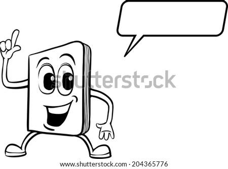 Coloring Book Cartoon Notebook Character Stock Vector 204365776 ...