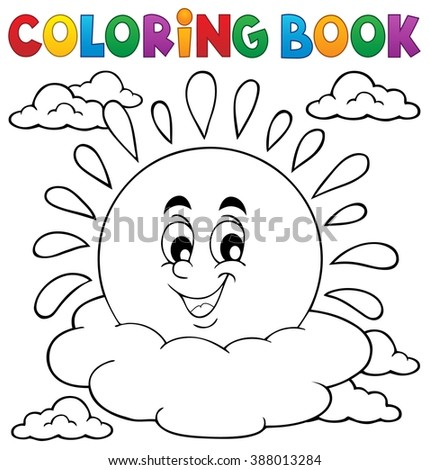 Coloring Book Weather Images Vector Illustration Stock Vector ...