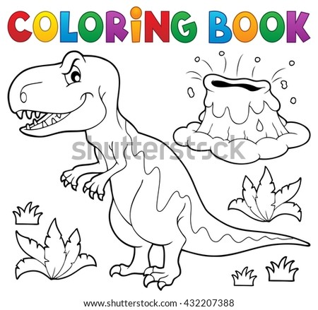 Coloring book dinosaur topic 1 - eps10 vector illustration.
