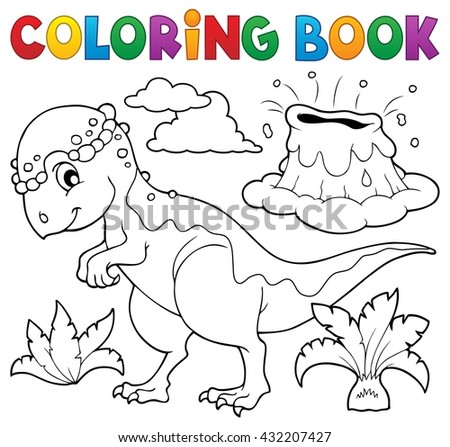 Coloring book dinosaur topic 5 - eps10 vector illustration.