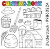 Coloring book farm theme 2 - vector illustration. - stock vector