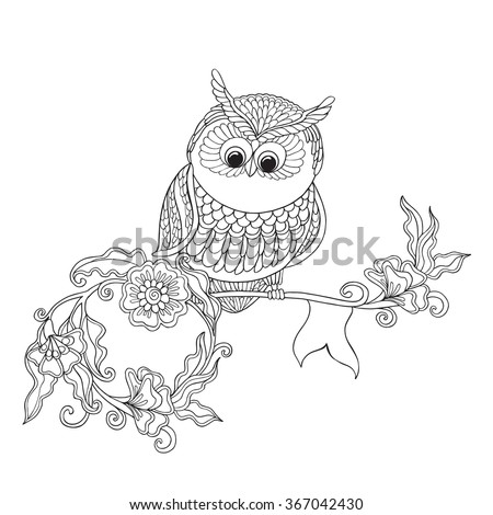 Coloring Book Adult Older Children Coloring Stock Vector 367042430 ...