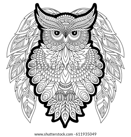 Coloring Book Adult Older Children Coloring Stock Vector 611935049