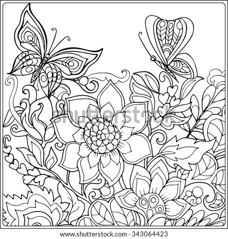 Coloring book adult older children coloring stock vector 343064423 coloring book for adult and older children coloring page with decorative vintage flowers and decorative mightylinksfo