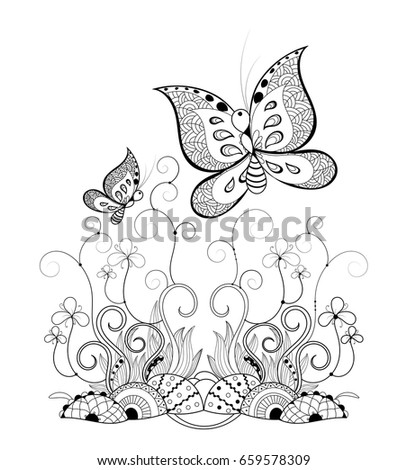 Coloring Book Adult Older Children Coloring Stock Vector 659578309