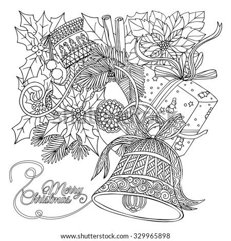 coloring pages for older adults - vector background hand drawn herbs spices stock vector