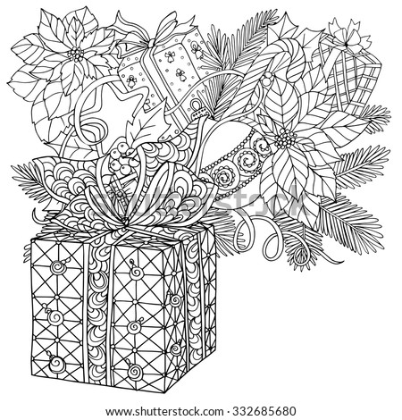 Coloring book for adult and older children. Coloring page with pattern ...