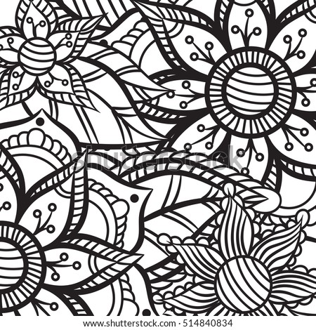 Coloring Book Adult Older Children Coloring Stock Vector 514840834 ...
