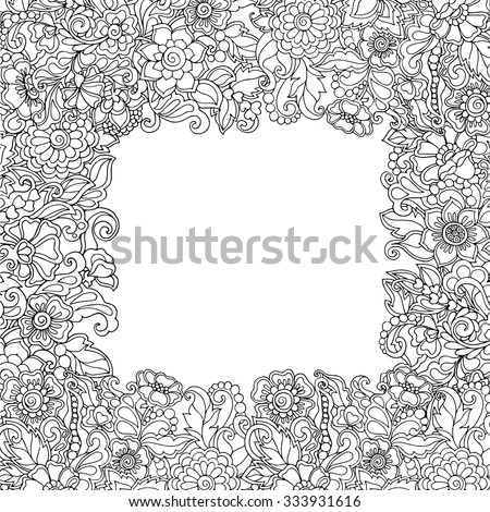 Coloring Book Adult Older Children Coloring Stock Vector 333931616 ...