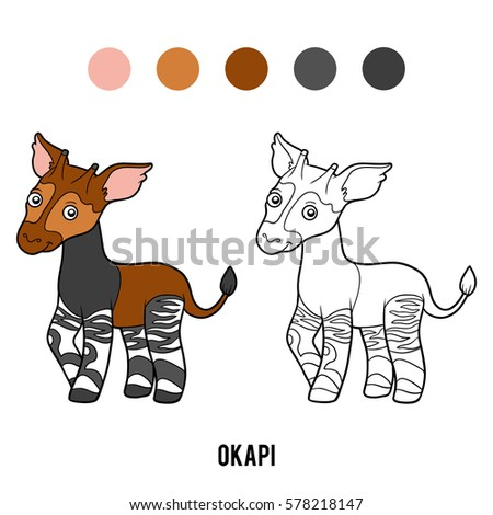 Okapi Coloring Pages | INFOVISUAL