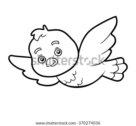 Coloring Book Children Bird Stock Vector (Royalty Free) 370274036 ...