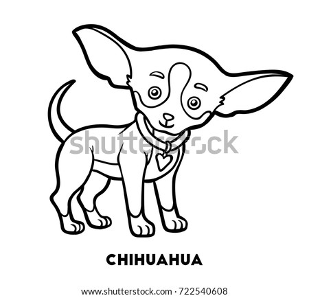 Coloring Book For Children Dog Breeds Chihuahua