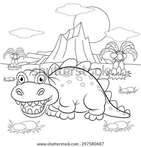 Dinosaur Landscape Stock Images Royalty Free Images Amp Vectors