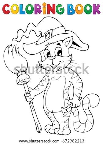 Coloring Book Halloween Cat Theme 3