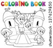 Coloring book kids play theme 5 - eps10 vector illustration. - stock vector