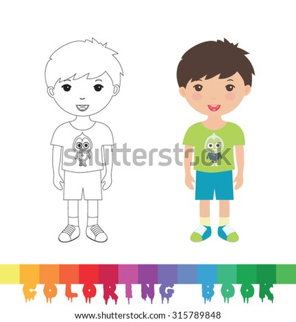 Coloring Book Layout : Kids book layout ภาพสต็อก ภาพและเวกเตอร์ปลอดค่าลิขสิทธิ์