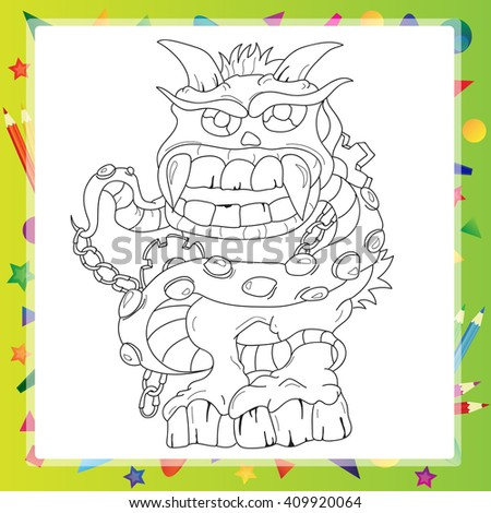 Coloring book - Monster