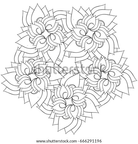 Coloring Book Page For Adults And Kids In Doodle Style. Vector Artwork. Good  For