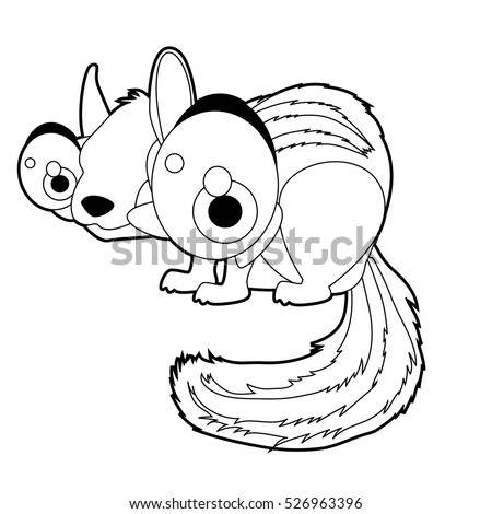 Coloring Book Page Funny Cartoon Comic Cool Nice Animals Chipmunk