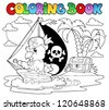 Coloring book pirate parrot theme 2 - vector illustration. - stock vector