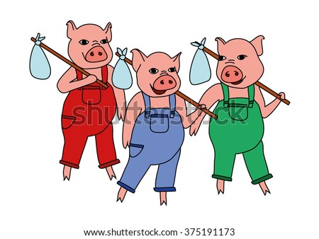 Three Little Pigs Stock Images, Royalty-Free Images & Vectors ...