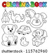 Coloring book toys theme 1 - vector illustration. - stock vector