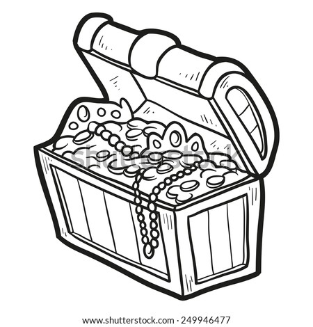 coloring pages treasure chest - pirate treasure chest stock images royalty free images
