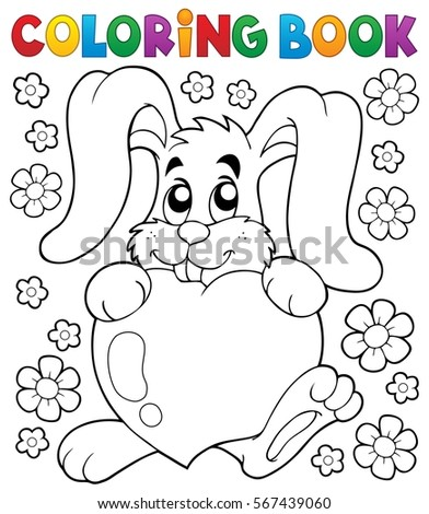 Coloring book Valentine topic 2 - eps10 vector illustration.