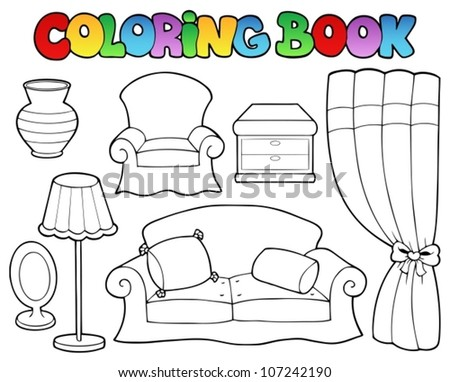 free coloring pages furniture - photo#45