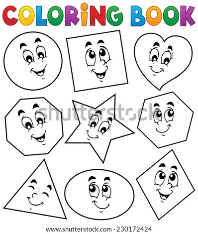 Coloring book various shapes 1 - eps10 vector illustration. - stock vector