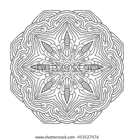Coloring For Adult Anti Stress Mandala Circular Pattern Boho Zentangl Tattoo