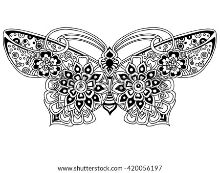 coloring page Beautiful butterfly.