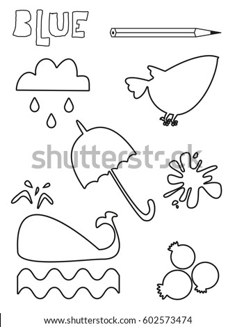 Blue things pages coloring pages for Blue coloring page