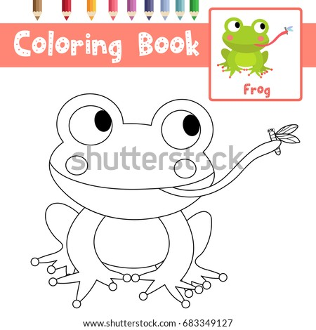 Toad Eating Fly Coloring Page