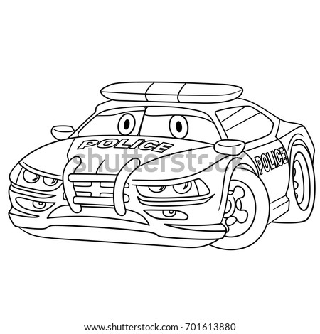 hot police cars coloring pages | Coloring Page Cartoon Fire Truck Emergency Stock Vector ...