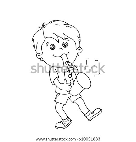 Saxophone Cartoon Stock Images Royalty Free Images