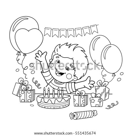 birthday presents coloring pages - photo#48