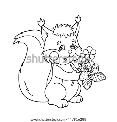 Squirrel Coloring Pages Stock Photos